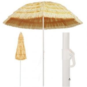 Ombrellone da Spiaggia 240 cm in Stile Hawaiano Giardino e Fai da te