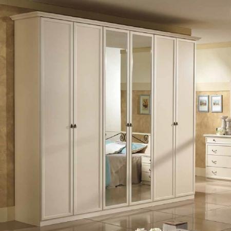 Armadio Ninfa 6A specchio serie romantica Arredamento Casalinghi